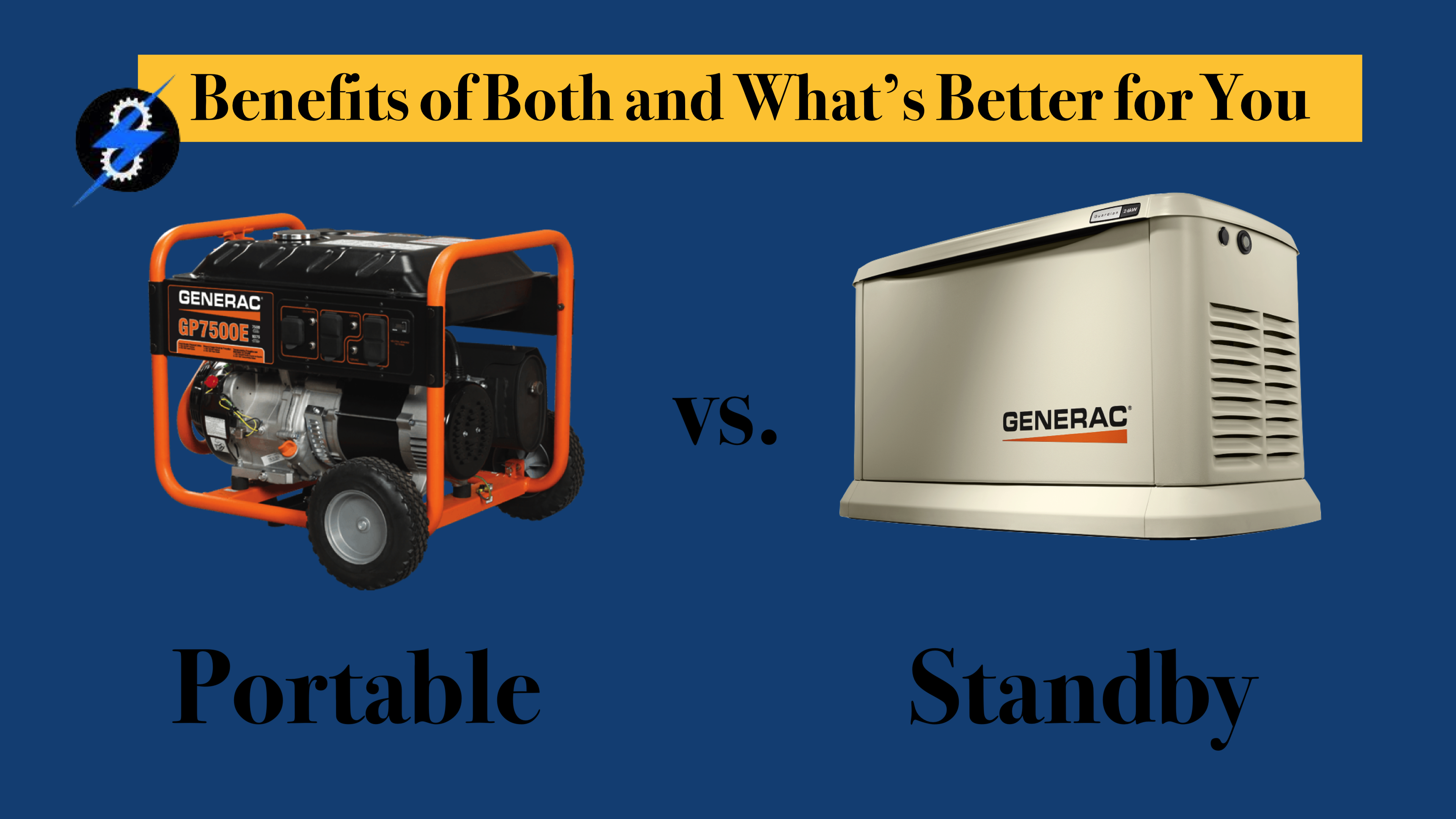 portable or standby generator